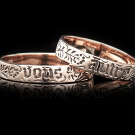 you and no other poesy ring va006r 14k rg