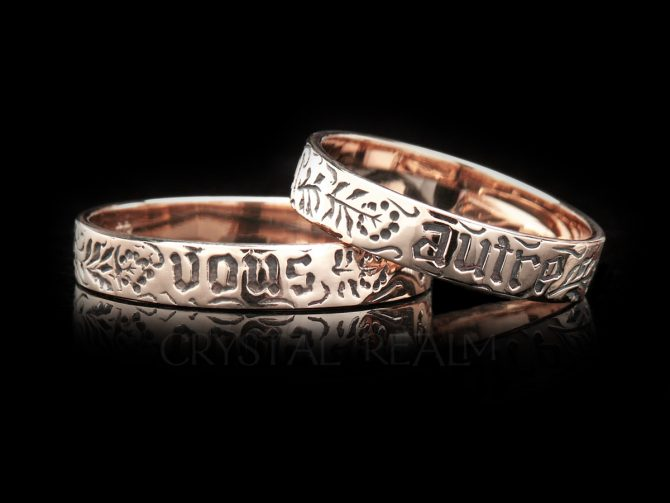 You and No Other, Traditional French Posy Ring, 14K Rose Gold