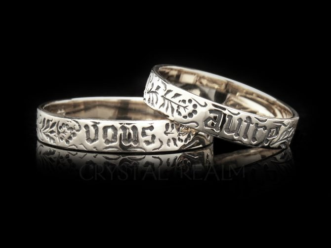 You and No Other, Traditional French Posy Ring, 14K White Gold