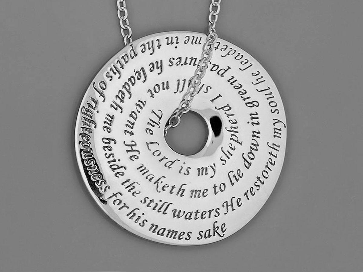 ca1b4e0e9a9cb Green Tara Posy Necklace in Sterling Silver – Puzzle Rings ...