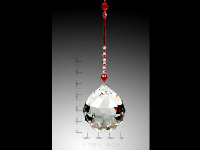 Swarovski Crystals - 50mm Crystal Faceted Clear Ball Suncatcher