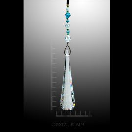 Swarovski Crystal - 63mm Clear Crystal Flowing Drop Suncatcher