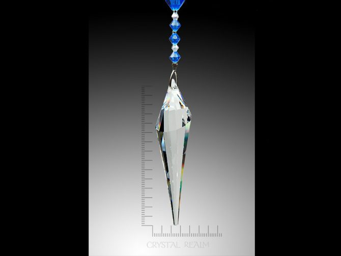 Swarovski Crystal - 78mm Clear Crystal Inverted Drop