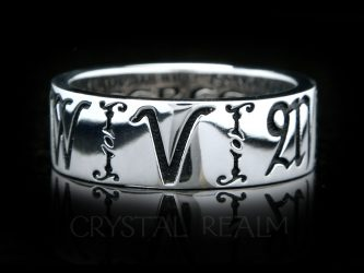 6mm wide posy ring with initials or name