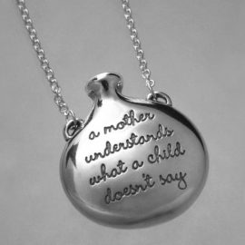 a mother understands poesy necklace