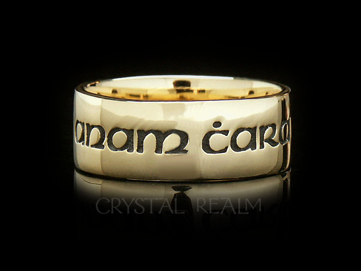 anam cara or soul friend posy ring in 14k yellow gold