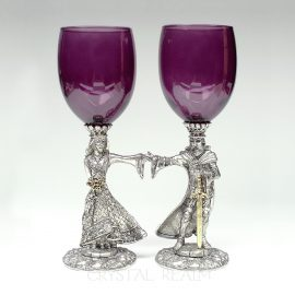 arthur and guinevere toasting glasses purple k310b