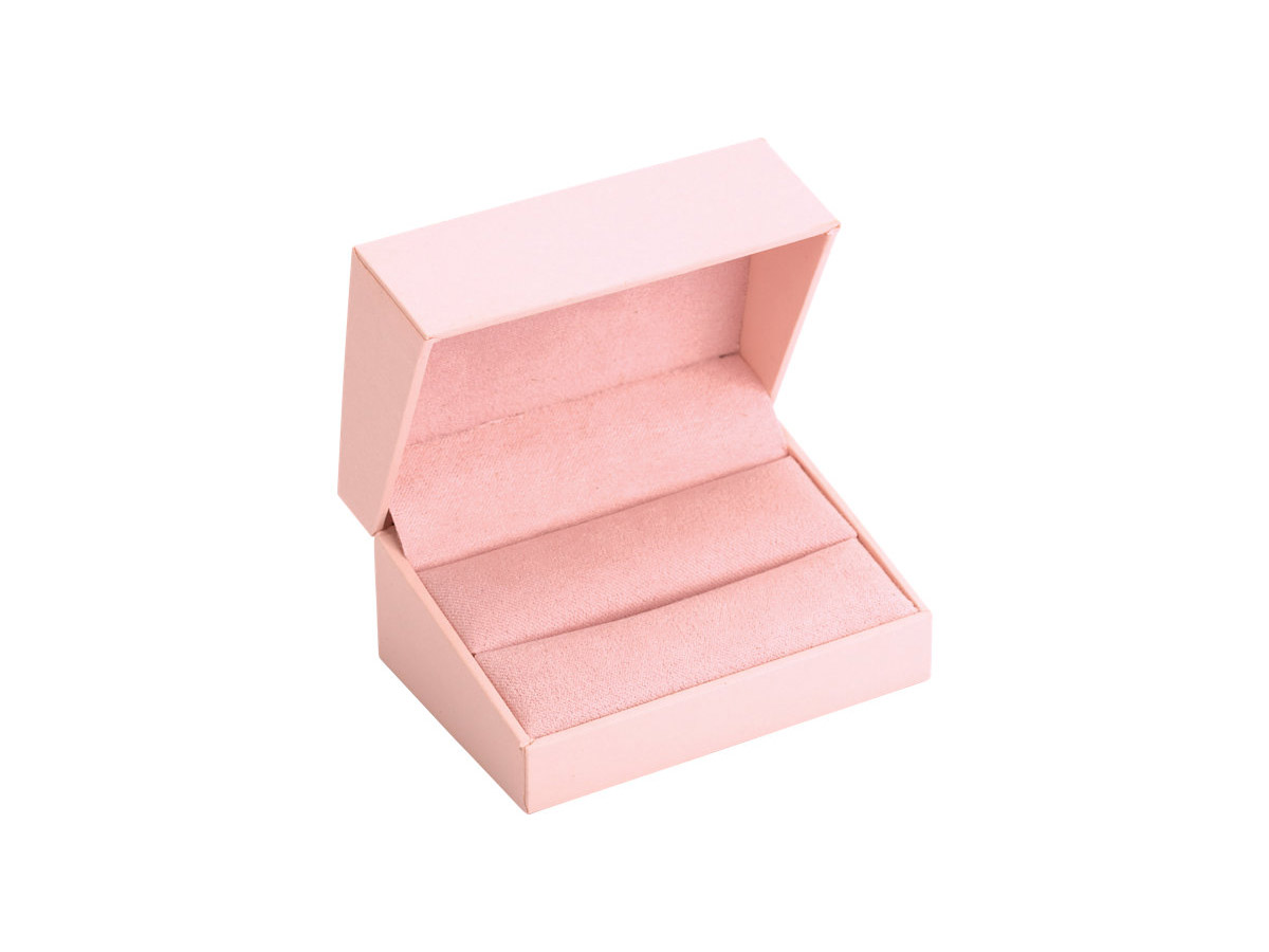 Aura Double Ring Box in Petal Pink – Puzzle Rings, Engagement Puzzle ...
