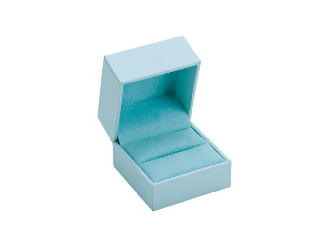 Aura Single Ring Box in Misty Blue