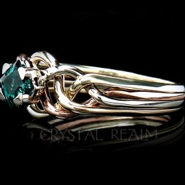 Avalon Engagement Puzzle Ring with Lab-Created Emerald