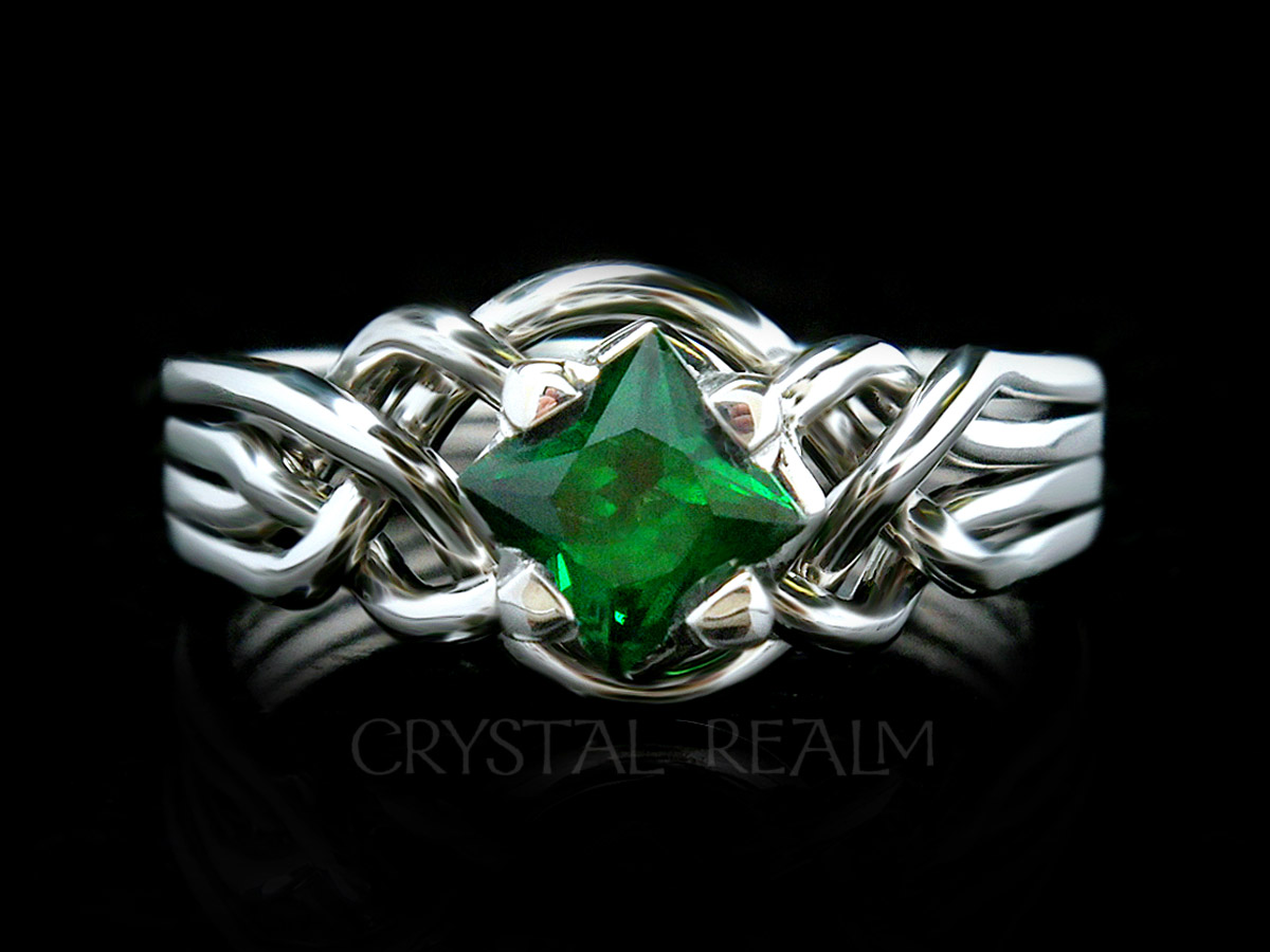 ring tsavorite garnet with plain rings white green gold halo engagement gem oval diamond cut band