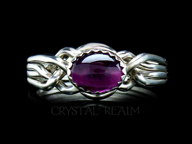 Avon Oval Puzzle Ring with Amethyst