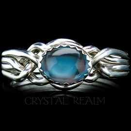 avon oval puzzle ring london blue topaz