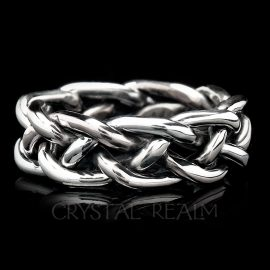 braided wedding rings 13ga palladium