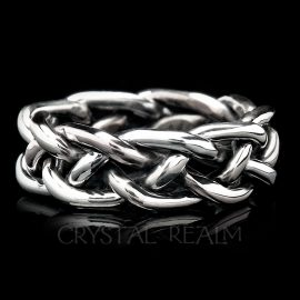 braided wedding rings sterling silver 13