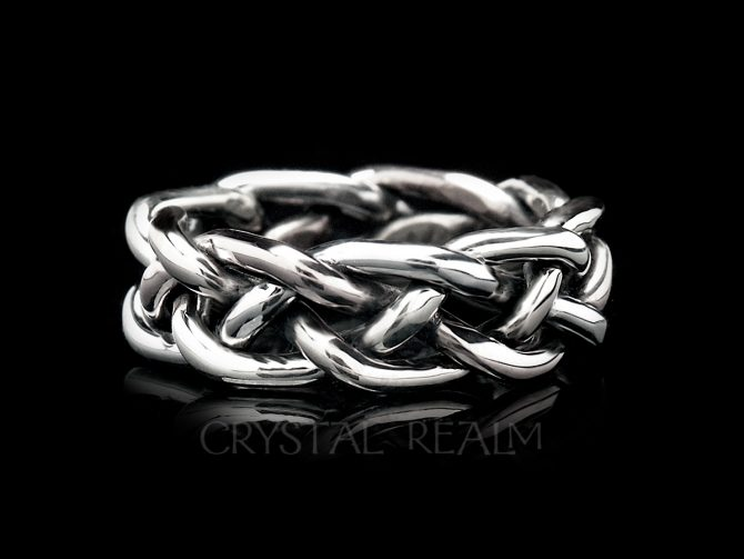 'Unpuzzle' Braided Wedding Ring in Heavy Weight in Sterling Silver