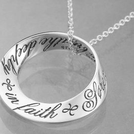 breathe deeply in faith sterling silver necklace
