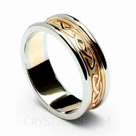 celtic band ring knot rfld031ywh