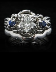 Puzzle Rings - Platinum Engagement Puzzle Rings, Bridal Sets, and Wedding Rings