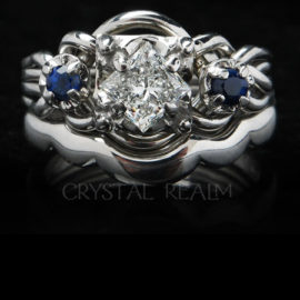 Platinum Engagement Puzzle Rings, Bridal Sets, & Wedding Rings
