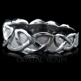 Tapered Celtic Eternal Knot Wedding Band
