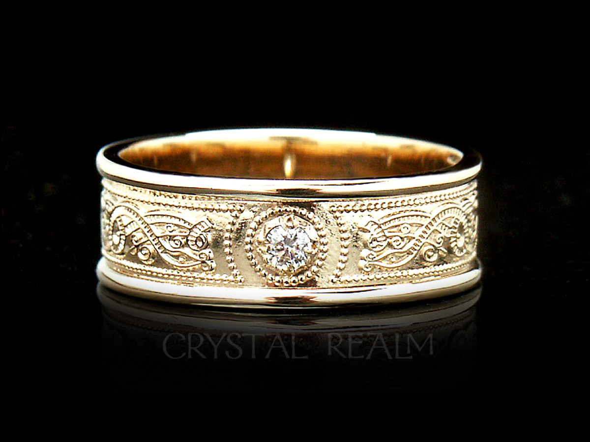 stackable diamond iconery infinity half gold ring band products luxe white plus