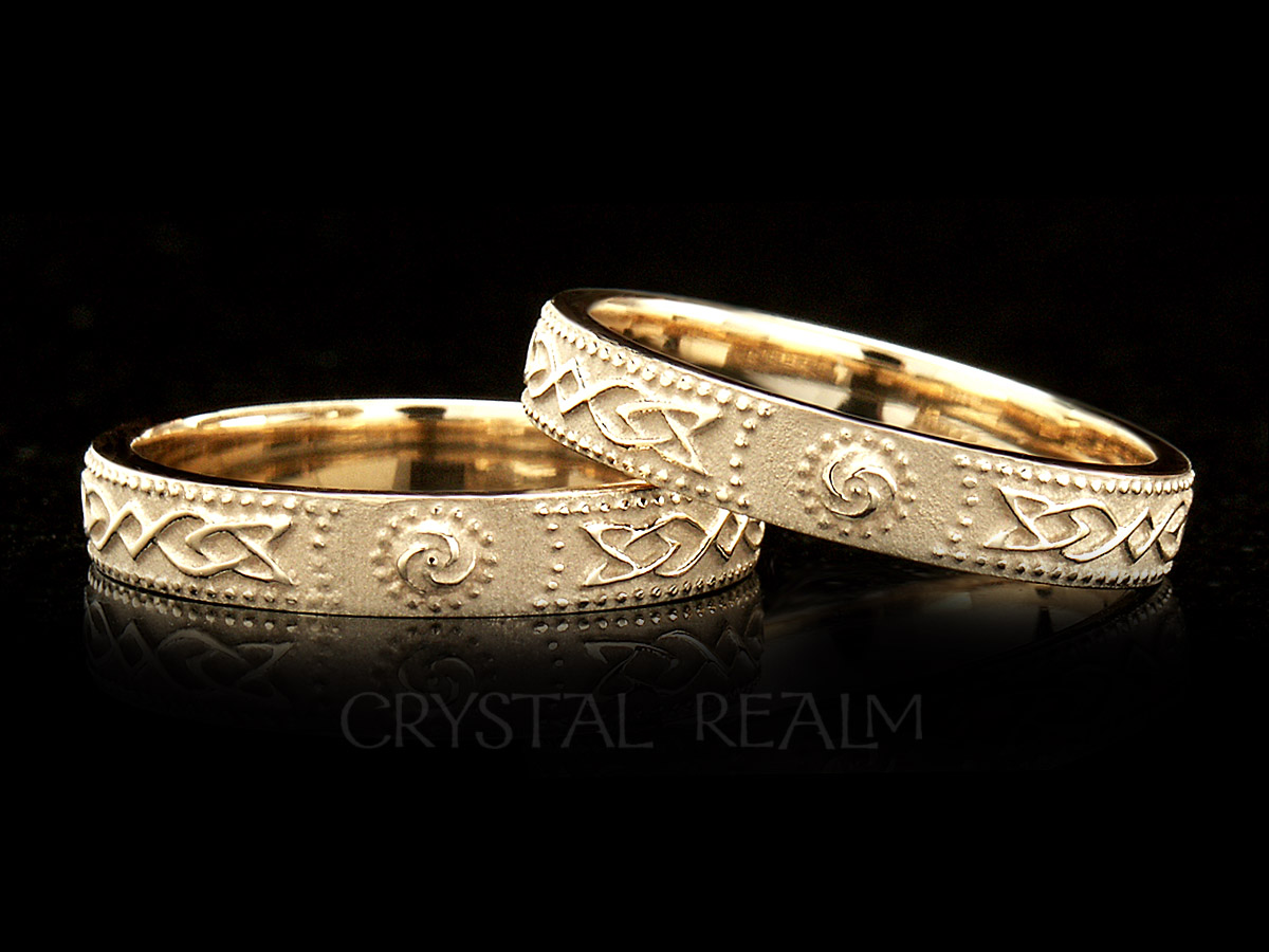 Women's Celtic Knot And Shield Band 14k Yellow Gold: Celtic Wedding Bands 14k At Reisefeber.org