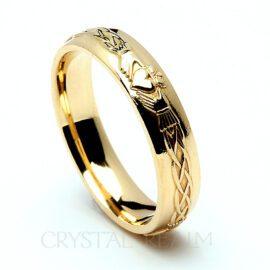 14K yellow gold Irish Celtic claddagh ring