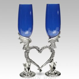 dragon heart champagne glasses ko58 clear 1
