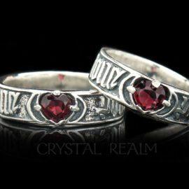 for love so sweet sterling silver poesy ring ml003r garnet