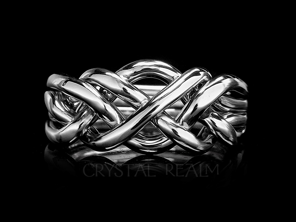 Saratoga Four Band Puzzle Ring Heavy Weight Sterling Silver