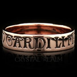 french poesy ring here is my heart guard it well in 14k rose gold