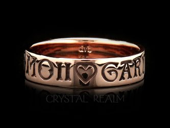 rose gold french poesy ring here is my heart guard it well