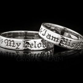 i am his i am hers poesy ring rt001r 2r 14k white gold