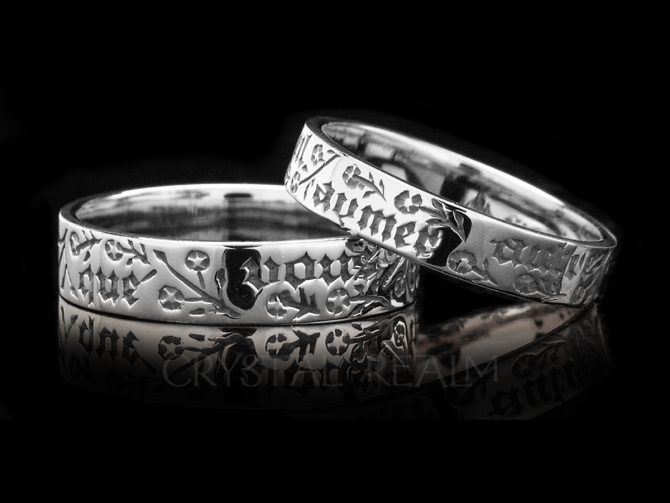 I do not Wish to Love any Other than You, Traditional French Posy Ring, Sterling Silver, Close-Out