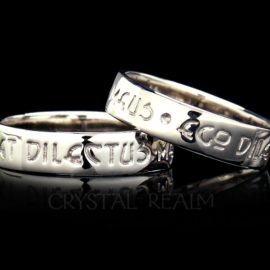 latin beloved poesy ring 14k wg na st085r