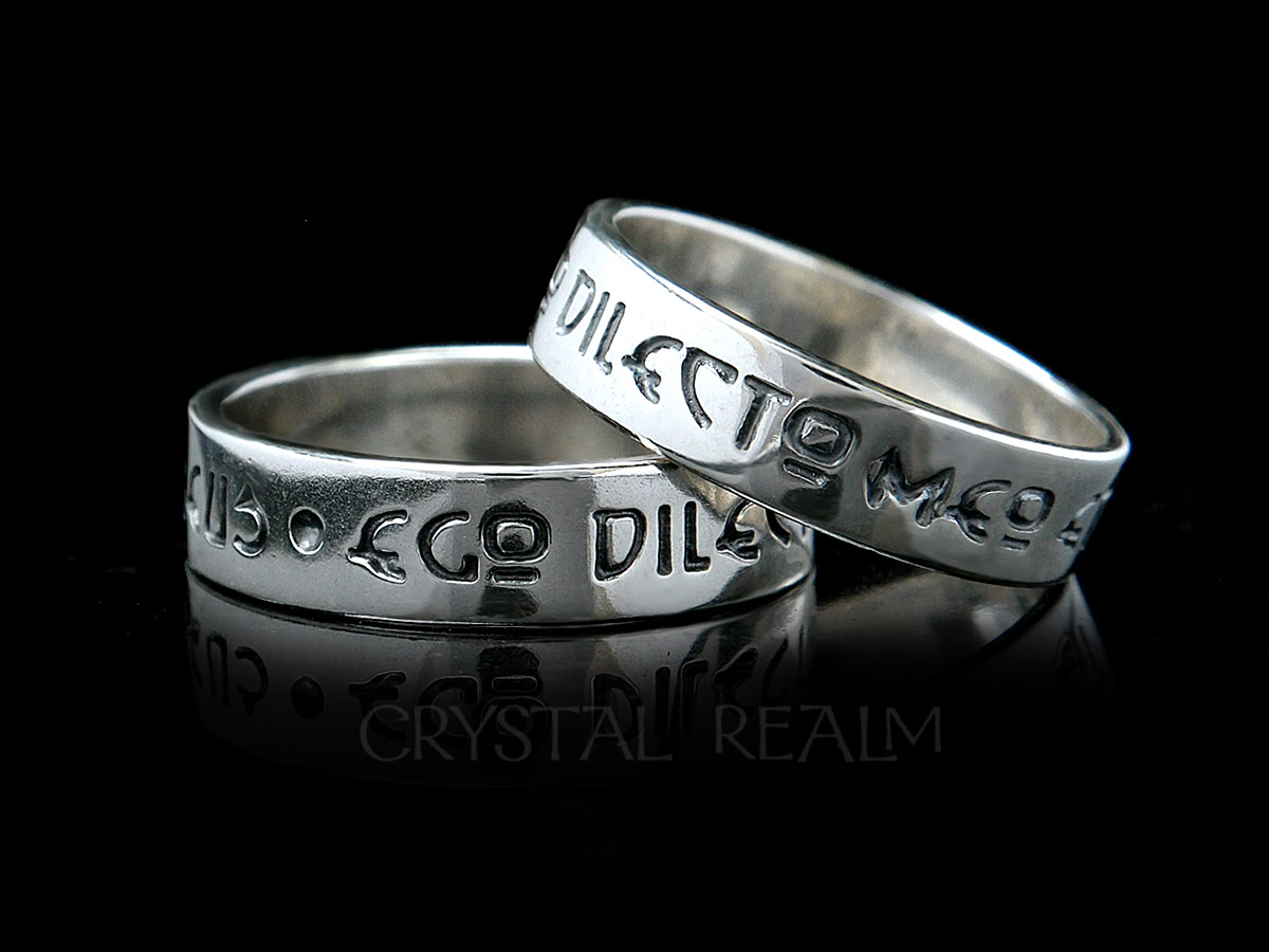 I am my beloved's and my beloved is mine latin poesy ring