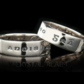 love now and forever poesy ring 14k wg st135r