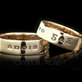 love now and forever poesy ring 14k yg st135r