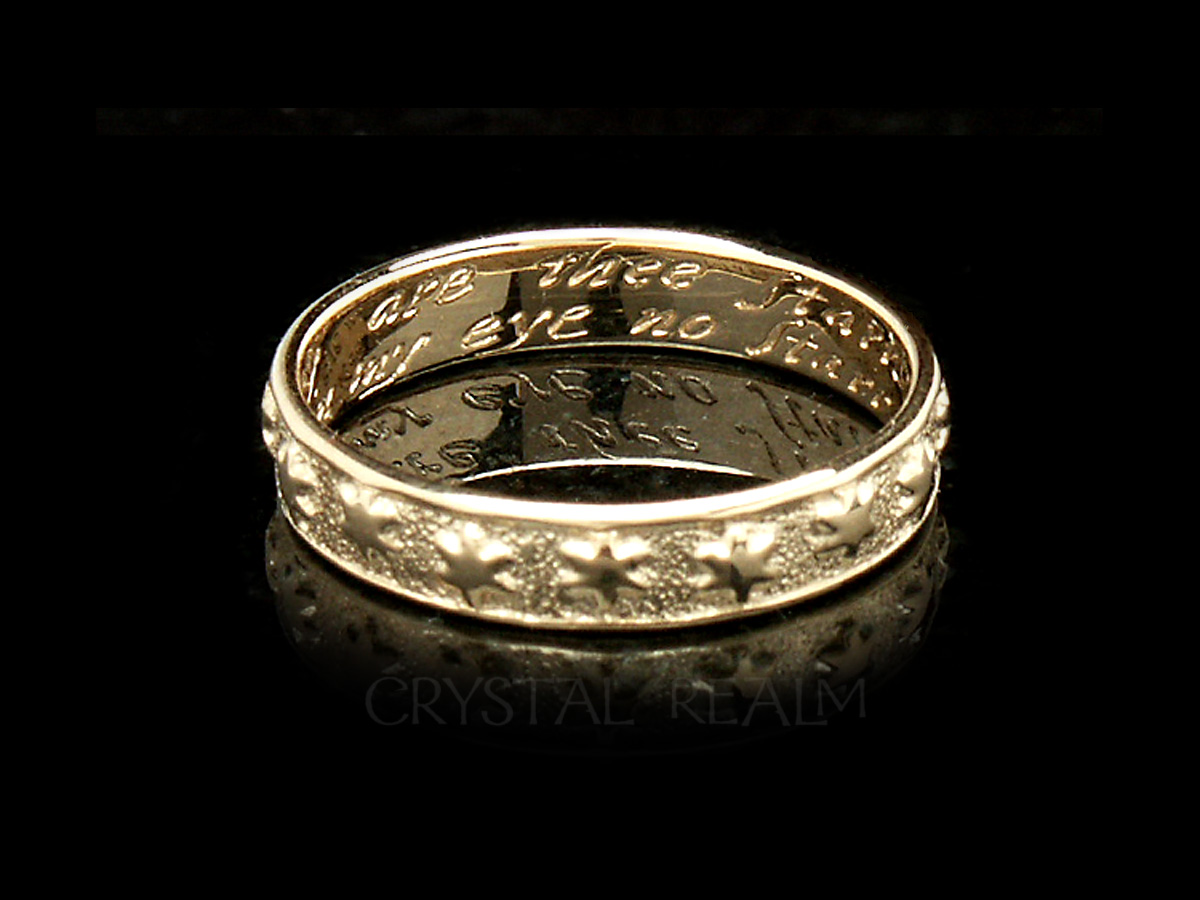 Many Are The Starrs I See Traditional English Posy Ring