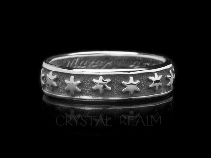 Many are The Starrs I See, Traditional English Posy Ring, Sterling Silver