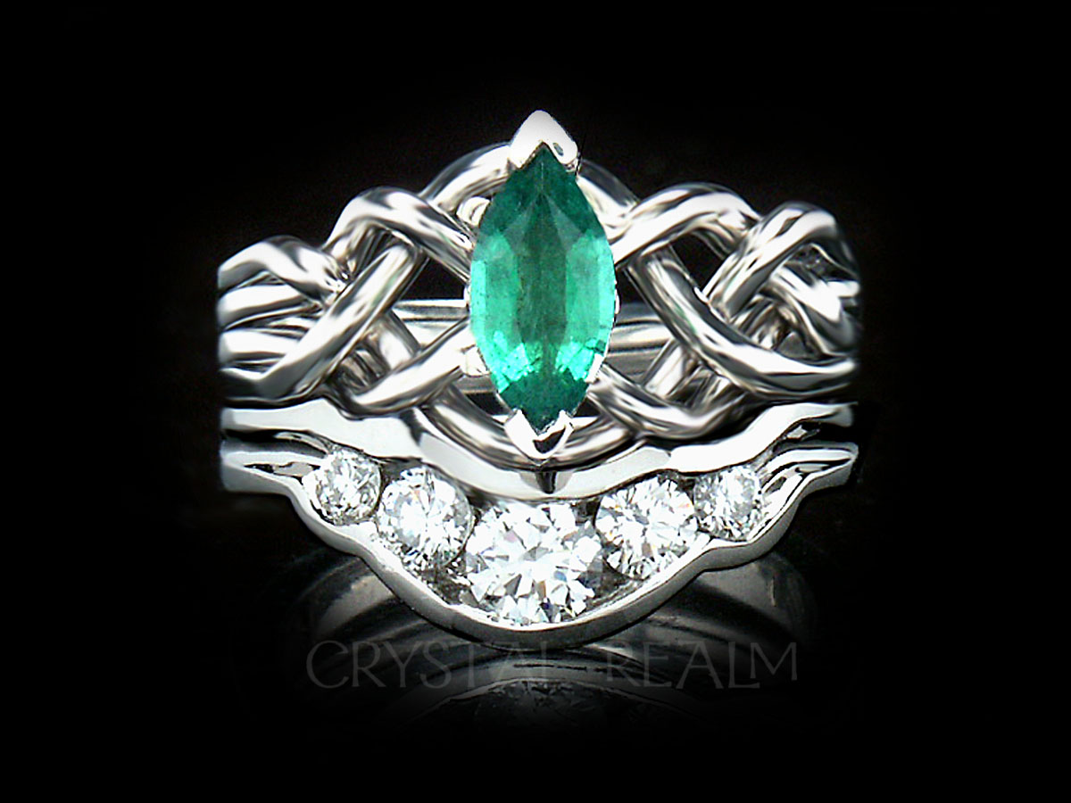 vintage carat and ring rings halo emerald diamond