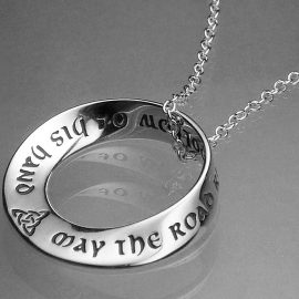 may the road rise to meet yousterling silver necklace