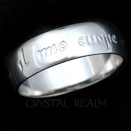 platinum poesy ring my heart is yours forever in Italian
