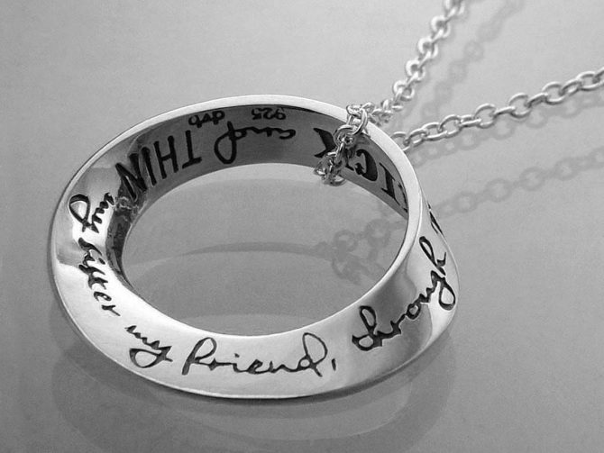 My Sister, my Friend, Sterling Silver Necklace