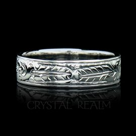'My Heart, My Soul, My Spirit,' Traditional German Posy Ring in Platinum