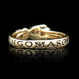 I have Nothing More to Give You than my Heart, Spanish Traditional Posy Ring, 14K Yellow, Rose, or White Gold