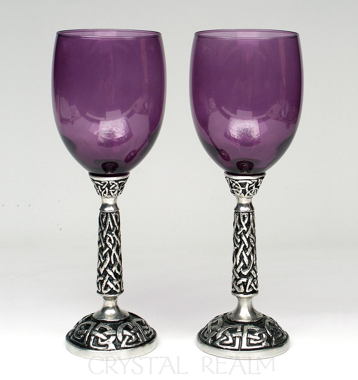 purple crystal vines toasting glass or communion cup. Black Bedroom Furniture Sets. Home Design Ideas