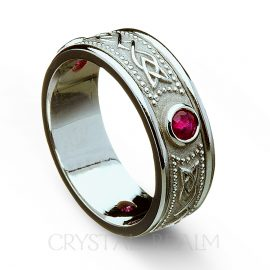 ruby celtic wedding band rfld036wwlr