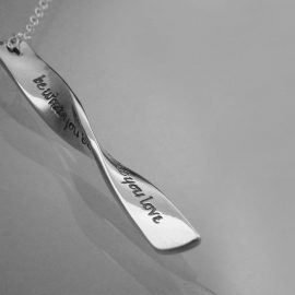 rumi the beauty of what you love necklace